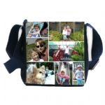 Small Black or Denim Collage Photo Bag